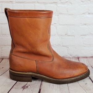 VTG Chippewa Steel Toe Pull On Rare Engineer Boots